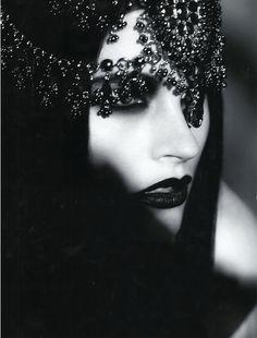 ♥Bejewelled - black lipstick