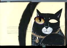 Katerina Gorelik use this to inspire childrens drawings using eyes cut out from magazines.