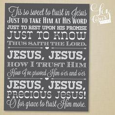 Tis So Sweet to Trust in Jesus Wall Art