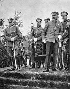 General Edward Rydz-Śmigły, left, and Piłsudski in 1919 Poland History, World Conflicts, Warsaw, Armed Forces, Wwii, Sword, Battle, Nostalgia, Army