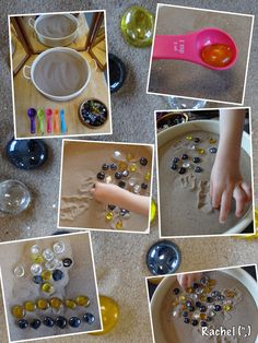 Dots in the sand are a fantastic way to make children to explore and find the dots. they will play for hours till they find all dots. and they can keep the dots  with them