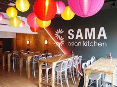 SAMA Asian eatery by Richard Brownlie Marshall, London - UK Cafe Design, Interior Design, Store Design, Indian Ice Cream, Asian Kitchen, Branding, Hospitality Design, Design Furniture, Cafe Bar