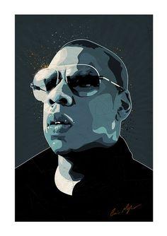 Jay Z Pop Art art print music memorabilia by CiaranMonaghanArt