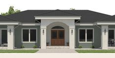 Home Plan CH574 Simple House Plans, Beautiful House Plans, Family House Plans, Dream House Plans, House Floor Plans, House Floor Design, House Gate Design, Home Design Floor Plans, Modern Lake House
