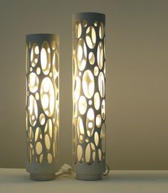 Upcycle some PVC into an awesome an abstract lampshade