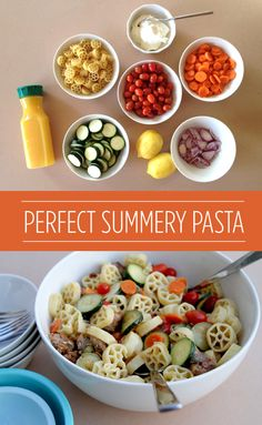 Giada's Round & Round Pasta - made for Emily and Dad, was very easy and delicious