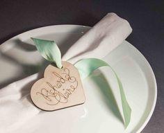 100 personalised wedding tags custom name by ByCharlie on Etsy