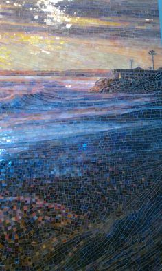 Copyright 2011 Mia Tavonatti Detail from my San Clemente Sunset mosaic created for a private residence.