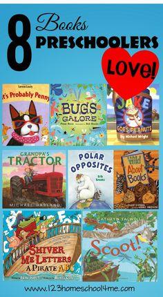8 Books Preschoolers LOVE #bookrecommendations #preschool #bookstoread