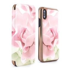 c444cc070 Ted Baker KNOWISE Mirror Folio Case for iPhone X   XS - Porcelain Rose  (Nude)