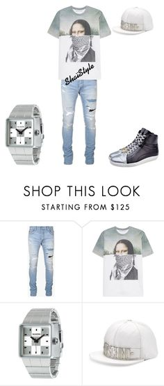 """Shaïstyle"" by shaistyle ❤ liked on Polyvore featuring Balmain, Neil Barrett, Nixon, Moschino, men's fashion and menswear"