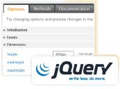 jQuery UI provides abstractions for low-level interaction and animation, advanced effects and high-level, themeable widgets, built on top of the jQuery JavaScript Library, that you can use to build highly interactive web applications.