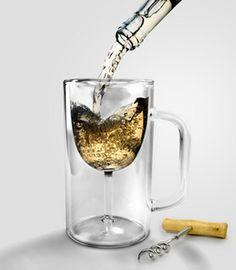 Fred & Friends Winestein - Wine Glass in Beer Stein