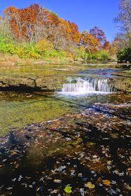 Prairie Creek Falls in Autumn, Will County, Illinois