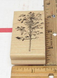 HARDWOOD TREE BY THE ARTIST STAMPS RUBBER STAMP #ARTISTICSTAMPS #rubberstamp Rubber Stamping, Hardwood, Stamps, Landscape, Artist, Nature, Ebay, Things To Sell, Seals