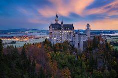 İlhan Eroğlu Photography. Neuschwanstein in Before Sunrise - Germany ,Bavaria ,Münich