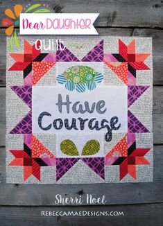 Chapter 8 of the Dear Daughter quilt Sampler Quilts, Scrappy Quilts, Mini Quilts, Quilt Block Patterns, Pattern Blocks, Quilt Blocks, American Patchwork And Quilting, Rainbow Quilt, Dear Daughter