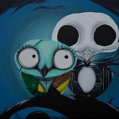 The Owl Jack And Sally Art Print