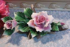 Vintage Capodimonte Pink Rose