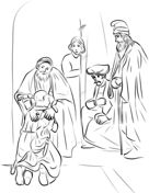 The Return of the Prodigal Son coloring page from Jesus' parables category. Select from 31983 printable crafts of cartoons, nature, animals, Bible and many more. Free Printable Coloring Pages, Coloring Pages For Kids, Coloring Sheets, Coloring Books, Printable Crafts, Free Printables, Prodigal Son, Baroque Art, Printable Pictures