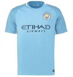 2017-18 Cheap Jersey Manchester City Home Replica Football Shirt [JFCB881]