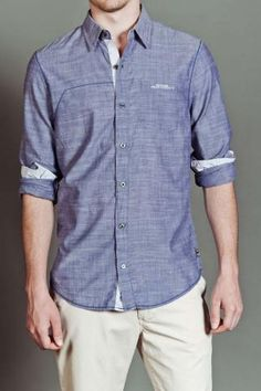 Chambray Button Up Shirt by Projek Raw