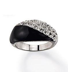 Black and White Pavé Ring. Shop online at tashina.avonrepresentative.com
