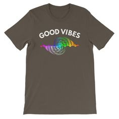 Good Vibes Positive Law of Attraction Inspired Short-Sleeve Unisex T-Shirt Cool Things To Buy, Stuff To Buy, Design Show, Good Vibes, Law Of Attraction, Positive Quotes, Positivity, Mens Fashion, Unisex