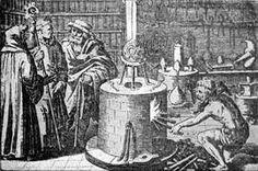 Alchemist lab, 17th century