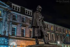 221B Baker Street, London. Err, not here. Nope. This, is Picardy Place at the top of Leith Walk, a few minutes from the east end of Princes Street and this, is Sherlock Holmes as he appeared a few nights ago. Why is he on an Old Edinburgh page and...