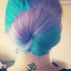 I want to dye my haor this color! Purple and Blue.