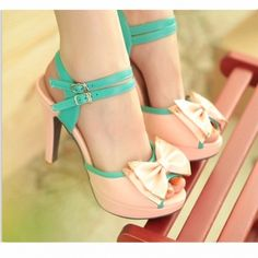 Pink Cute Bow Heel Sandals from Unique Boutique on Chiq