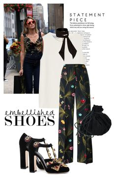 """""""embellished shoes make a difference"""" by black-eclipse-red-sky ❤ liked on Polyvore featuring Balmain, Narciso Rodriguez, Fendi, Dolce&Gabbana and River Island"""