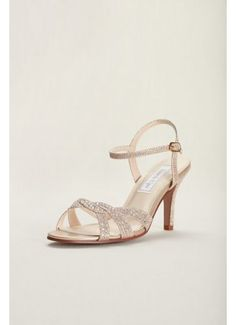Dulce from Touch Ups is an elegant and fun special occasion sandal with a glittering shimmer style. Features small AB stones on the vamp. Shimmer fabric upper and faux leather lining. Beach Wedding Shoes, Wedding Shoes Heels, Bride Shoes, Prom Shoes, Dream Wedding, T Strap Sandals, Strappy Sandals, Women Sandals, Shoes Women
