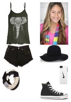 """Skylar stecker"" by musicislife166 ❤ liked on Polyvore featuring Converse, Warehouse, Kate Spade and NIKE"