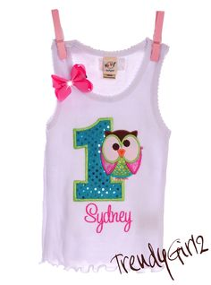 Night Owl Birthday Party Tank