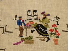 In Sue's World: Cross Stitch Table Cloth