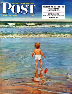 Baby at the Beach – Austin Briggs The tugboat may capsize when the tide arrives, but for one new to the sights and smells of the seaside, witnessing the frothy waves curl into the sand probably beats just about any plastic trinket.