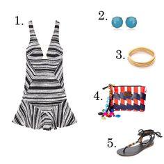 striped mini dress (via LE CATCH)