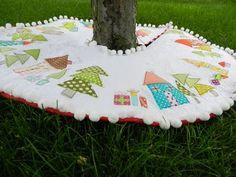 Perfect Xmas tree skirt!    Molly Flanders: Check One Off....Ho Ho HO!