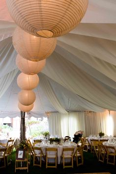 weddings receptions set up in a tent | ... reception was held in an enormous tent in its front yard. Here is the