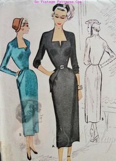 """McCall 7880; ©1949; Misses' Dress Add a photo to the gallery by clicking the """"modify"""" button below."""
