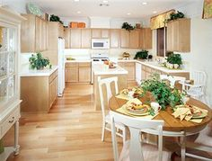 blonde wood kitchen cabinets - Google Search