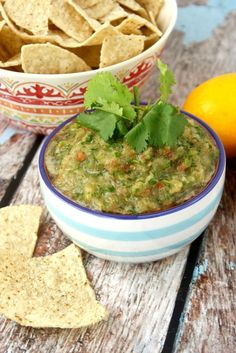 Clean Eating Cilantro and Lime Salsa...made with fresh, clean ingredients and it's raw, vegan, gluten-free, paleo-friendly and ready in just minutes   The Healthy Family and Home