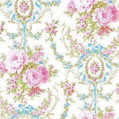 Cotton-Bedding-Clothwork-Vintage-Rose-Damask-Candy-Pink