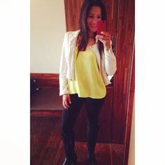 Outfit leggin #chaqueta #selfie #iphone
