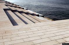 The Sea Organ-Designed by a Croatian Architect, Nikola Bašić Stair Steps, Sidewalk, Stairs, Sea, Design, Home Decor, Stairway, Decoration Home, Room Decor