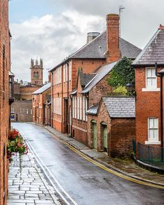 Pretty brick houses in Chester, England