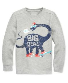 Epic Threads combines a warm, soft thermal shirt with a cool graphic for a great addition to his wardrobe. | Cotton/polyester | Machine washable | Imported | Thermal texture | Elephant graphic at fron