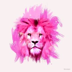 A pink lion looked at me Unisex Tank Top by lev man - Black - SMALL - Unisex Tank Top Rose Quartz Steven Universe, Lion Party, Pisces Constellation Tattoo, Lion Poster, Lion Painting, Lion Wallpaper, Canvas Prints, Art Prints, Sell Your Art